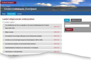 IDgis maakt onderzoeksbank provincie Overijssel